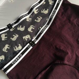 Nwt 2 Pairs Torrid size 3 Cheeky Panties